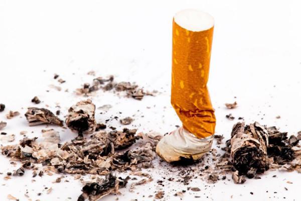 zigaretteAusgedaempft