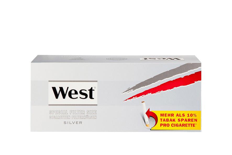 West Silver Zigarettenhülsen 250 Stück XL Pack