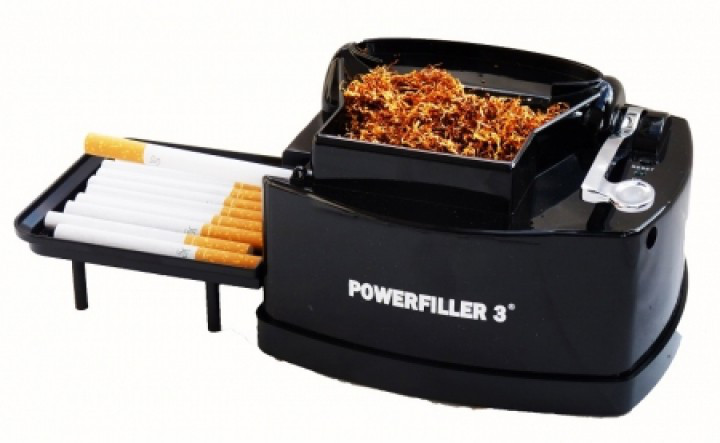 Powerfiller 3 - ohne Trichter - elektrische Stopfmaschine  - Farbe: schwarz
