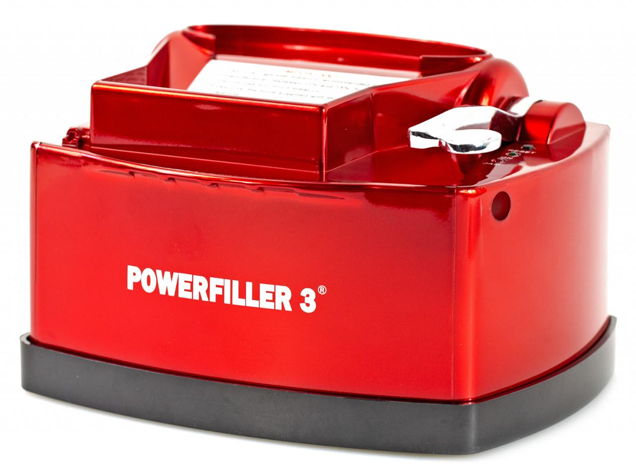 Powerfiller 3 - mit Trichter - elektrische Stopfmaschine - Farbe: rot