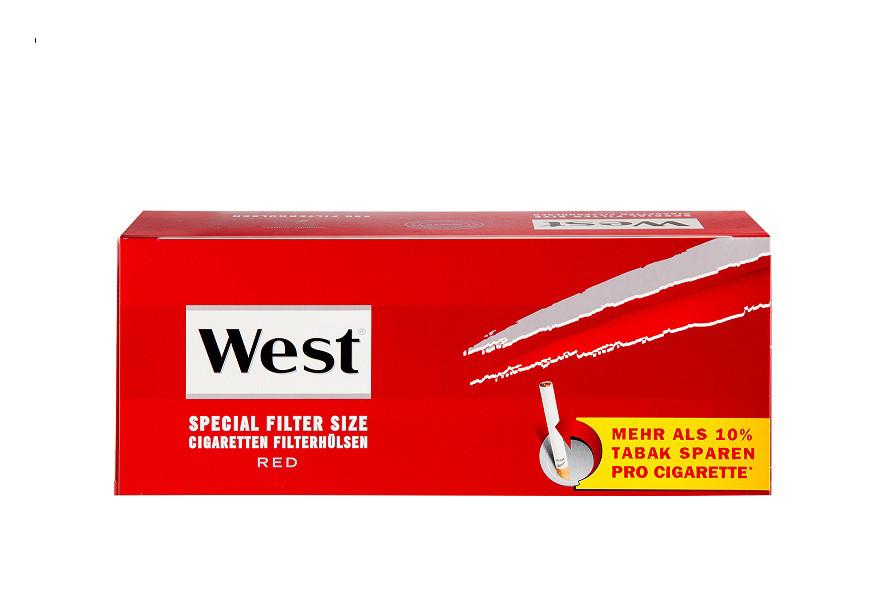 West Red Zigarettenhülsen 250 Stück XL Pack - Spezial Filter