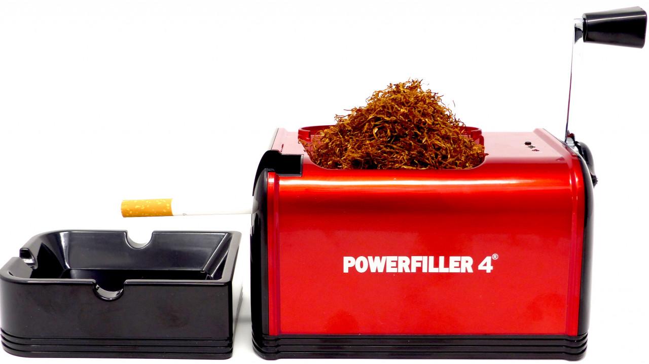 Powerfiller 4 - ohne Trichter - elektrische Stopfmaschine - Farbe: rot